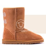 UGG Classic Short Crystal Bow Chestnut