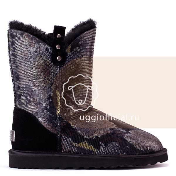 UGG Classic Short Cowboy Snake Black