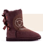 UGG Bailey Bow II Chocolate Влагостойкие