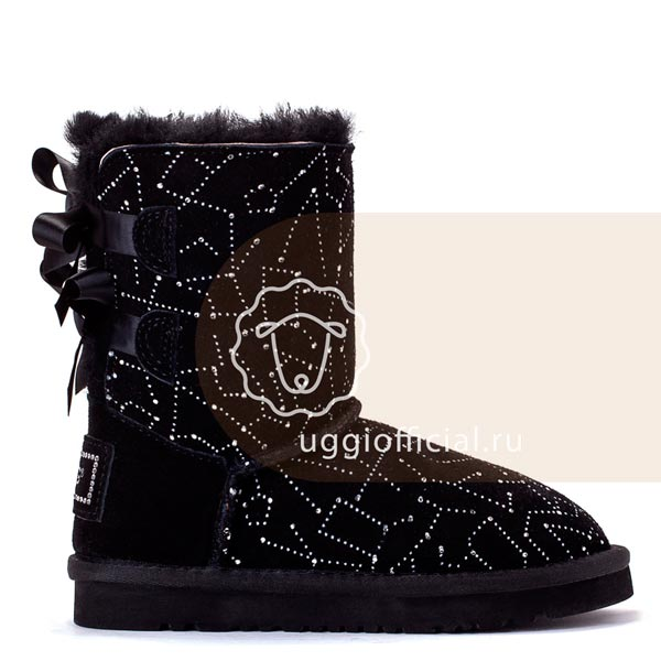 UGG Kids Bailey Bow Constellation Black