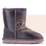 UGG Kids Classic Short Metallic Grey