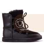 UGG Lodge Leather Black