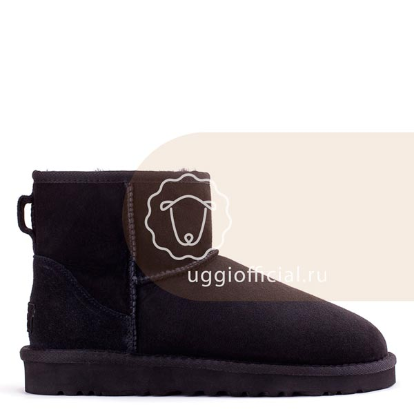 UGG Classic II Mini Black Непромокаемые