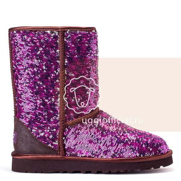 UGG Classic Short Sparkles Purple