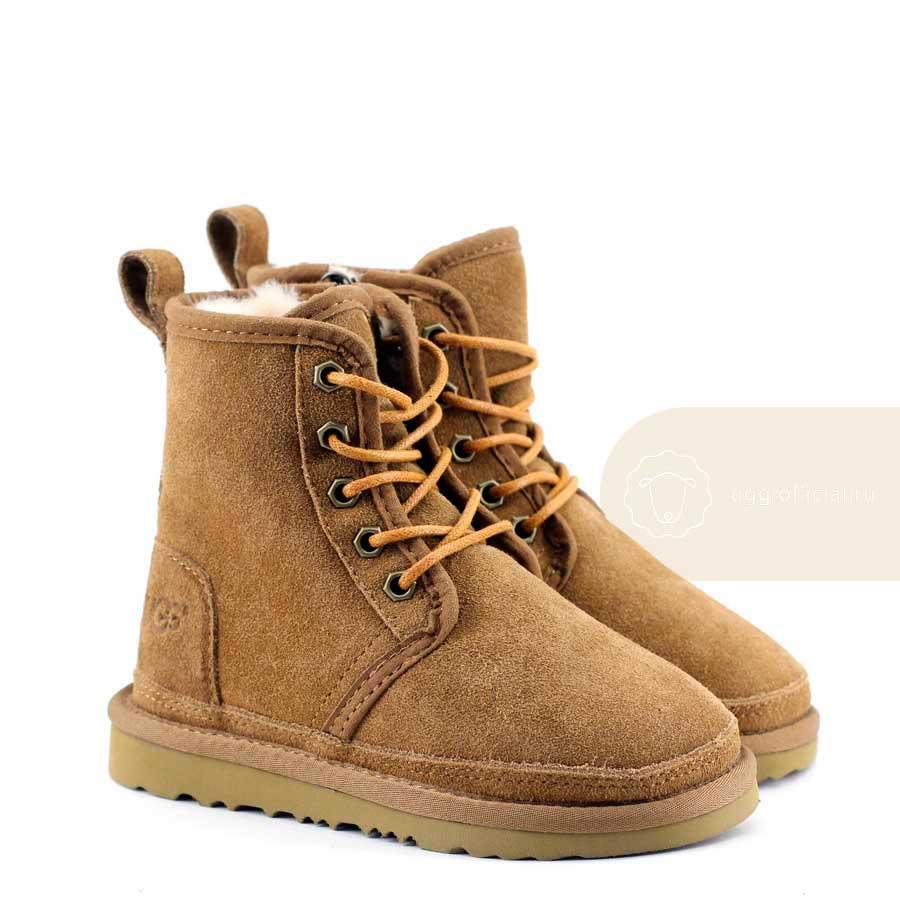 1c63a648ddc UGG Kids Boots Harkley Chestnut