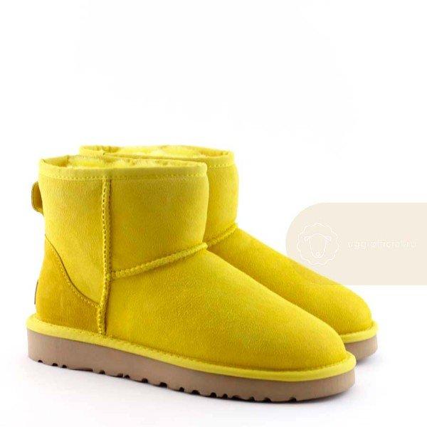 UGG Classic II Mini Yellow Непромокаемые