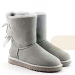 UGG Bailey Bow II Light Grey Непромокаемые