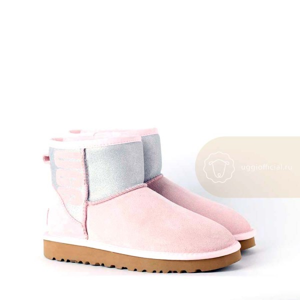 UGG Classic Mini Sparkle Boot Pink