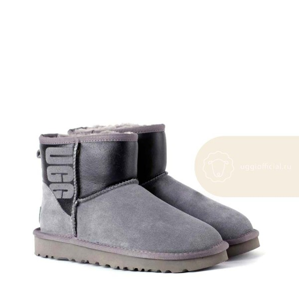 UGG Classic Mini Sparkle Boot Grey