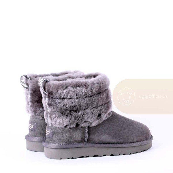 UGG Classic Mini Fluff Quilted Grey