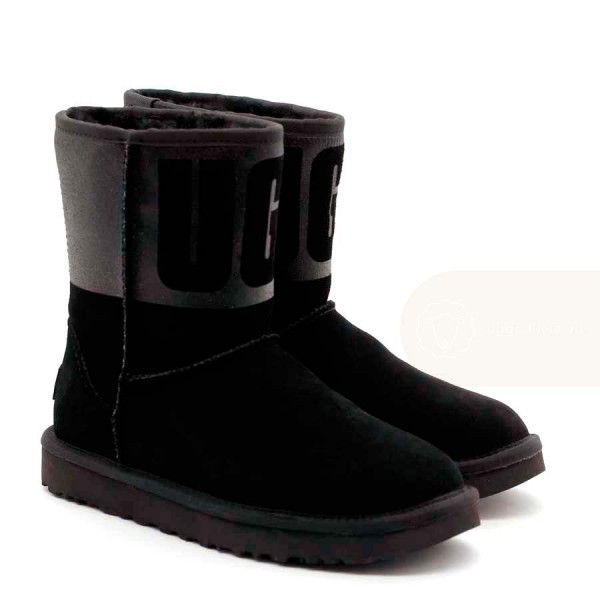 UGG Classic Short Sparkle Boot Black