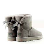 UGG Bailey Bow II Mini Light Grey Непромокаемые