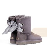 UGG Bailey Bow Customizable Charcoal
